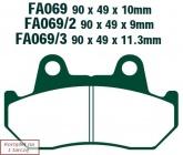 Klocki hamulcowe EBC FA069/3V V-PAD (kpl. na 1 tarcze)