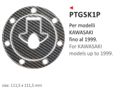 PRINT naklejka na wlew paliwa Kawasaki up 1999