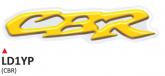 Naklejka 3D PRINT CBR żółta (2 szt.)
