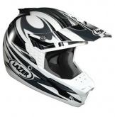 Kask motocyklowy LAZER SMX Factory biały/szary