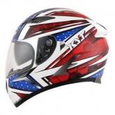 Kask motocyklowy KYT FALCON ALL STARS niebiesko-czerwony