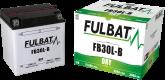 Akumulator FULBAT YB30L-B (suchy, obsługowy, kwas w zestawie)