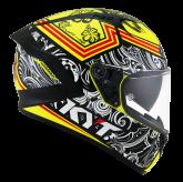 Kask Motocyklowy KYT NF-R STEEL FLOWER żółty - L