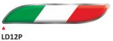 PRINT para naklejek wypukłych Italian flag