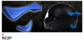 PRINTE helmet support spoiler blue