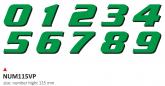 PRINT zestaw 10 naklejek (cyfry) w kolorze zielonym