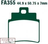 Klocki hamulcowe EBC SFAC355/4 skuterowe karbonowe (kpl. na 1 tarcze)