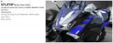 PRINT zestaw naklejek motocyklowych do Yamaha TMAX from 2012 to 2014 niebieskie wersja