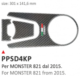 PRINT Naklejka na półkę kierownicy Ducati Monster 821 dal 2015 al 2016