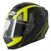 Kask motocyklowy ROCC 882 czarny mat/neonowy  L