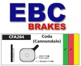 Klocki hamulcowe rowerowe EBC CFA284 CODA CANNODALE STANDARD PROFILE