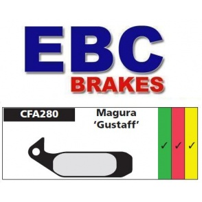 Klocki rowerowe EBC (spiekane) Magura Gustav CFA280HH
