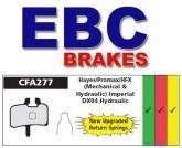 Klocki hamulcowe rowerowe EBC CFA277R HAYES MX1, MAG, HFX9, PROMAX