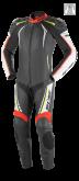 Kombinezon motocyklowy BUSE Silverstone Pro czarno-czerwono-neonowy 50
