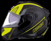 Kask motocyklowy ROCC 881 czarno-żółty neonowy XS