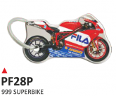 PRINT Dwustronny wypukły brelok na klucze  999 superbike