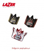 LAZER Peak MX8 Geotech Pure CarbonBlack Carbon - Yellow Fluo - Red