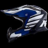 Kask motocyklowy KYT STRIKE EAGLE WINGS biało-niebieski