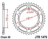 Zębatka napędowa tylna JTR1479.47 - 47 zębów