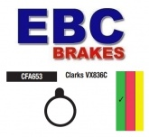 Klocki rowerowe EBC APSE/ARTEK/ZOOM/APOLLO X RATED BIKES (MECHANICAL CALIPER) CFA653 (1 kpl.)