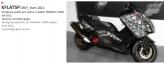 PRINT zestaw naklejek motocyklowych do Yamaha TMAX from 2012 to 2014 mimetic szara