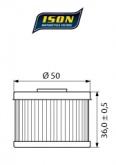 Filtr Oleju ISON 112 (HF112)