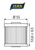 Filtr Oleju ISON 123 (HF123)