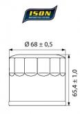 Filtr Oleju ISON 138 (HF138)