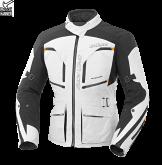 Kurtka motocyklowa BUSE Open Road Evo biało-czarna
