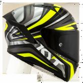 Kask Motocyklowy KYT NX RACE MOOD żółty fluo