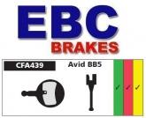 Klocki rowerowe EBC AVID BB5 CFA439HH (1 kpl.)
