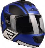 Kask motocyklowy LAZER LUGANO Z-Generation czarny/niebieski/metal/biały/matowy L