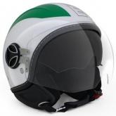 Kask Motocyklowy MOMO AVIO PRO Zielony/Biały/Czerwony