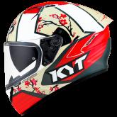 Kask Motocyklowy KYT NF-R XAVI SAKURA replica - L