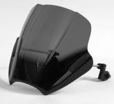 Uniwersalna szyba do motocykli bez owiewek MRA, forma SPS, czarna