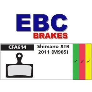 Klocki rowerowe EBC (spiekane) Shimano XTR 2011(M985) CFA614HH
