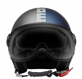 Kask Motocyklowy MOMO FGTR EVO (JOKER Blue / Clear Grey/ Silver) rozm. ML