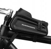 SUNRIMOON Torba rowerowa na ramę z uchwytem na telefon