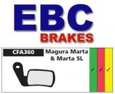 Klocki rowerowe EBC (organiczne wyczynowe) Magura Marta/Marta SL CFA360R