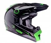 Kask motocyklowy LAZER MX8 Pure Carbon czarny/carbon/zielony