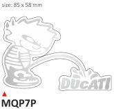 PRINT para naklejek Ducati srebrne