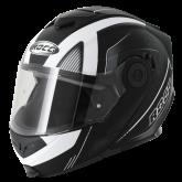 Kask motocyklowy ROCC 882 czarny mat/biały  XXL
