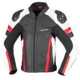 Kurtka motocyklowa skórzana BUSE Monza czarno-czerwony 48