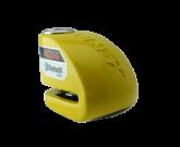 Blokada na tarczę z alarmem i bluetooth XX6 żółta - bolec 6 mm