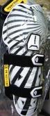 Ochraniacze na kolana Acerbis Profile Knee Guard biało-czarne