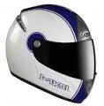 Kask motocyklowy LAZER FIBER D1 MKII biały/niebieski