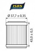 Filtr Oleju ISON 142 (HF142)