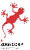 Naklejka 3D PRINT Geco czerwona