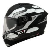 Kask motocyklowy KYT NF-R HEXAGON srebrny matowy