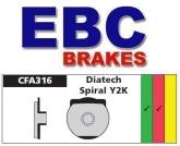 Klocki rowerowe EBC (organiczne wyczynowe) Diatech Spiral Y2K CFA316R